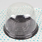 Cup a Cake Clear Plastic Pod Muffin Container CupCake Base with Full Dome Lid