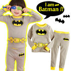 "Toddler Kida Boy Girl Long Sleepwear Pyjama Set "" I am Batman "" 1-7 years"