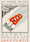 Olympics Lake Placid New York Bobsled Run Games Vintage Poster Repro FREE S/H