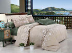 T508 Beige Double/Queen/King Size Bed Quilt/Doona/Duvet Cover Set New 100%Cotton