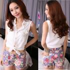 Sexy Women Floral Printed Low Waisted Mini Short Pants Dancer Tight Pants US8 10