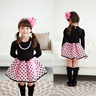 Christmas Baby Girls Princess Polka Dot Plaid Party Wedding Full Fancy Dress 2-7