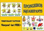 SPONGEBOB SQUAREPANTS  X10 temporary TATTOOS waterproof  loot bag toy LAST1WEEK+