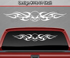 Design #116-01 Skull Rear Window Decal Sticker Vinyl Graphic Tribal Flame Truck