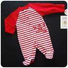New/NWT~CARTERS~Red+White Sleeper-Romper~Baby Boys HEART-BREAKER NB 3 6 9 months
