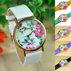 1PC Fashion Women Leather Rose Flower Watch Quartz Watches Gift GFY
