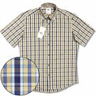 Adaptor Clothing All Cotton Button Down S/S Micro Check Shirt Yellow / Navy