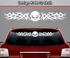Design #166-02 Skull Rear Window Decal Sticker Vinyl Graphic Tribal Car Truck