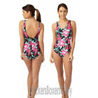 Floral Padded Non Wired Swimsuit/Swimming Costume Size 16,18,20,22,24 NEW