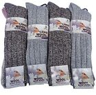 12 Pairs Womens Long Length Wool Mix Boot Socks.