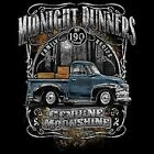 MOONSHINERS MOONSHINE MIDNIGHT RUNNER OLD TRUCK 190 PROOF HOODIE L TO 4X BLACK