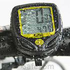 WIRELESS WATERPROOF BIKE BICYCLE CYCLE LCD COMPUTER SPEEDO SPEEDOMETER ODOMETER