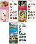 DELUXE SUPER SLIM (Slimline) CALENDAR 2015 (Month to View) - Choice of Designs