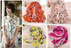 Fashion Womens Lady Chiffon Butterfly Print Shawl Scarf Elegant Scarves Wrap Z