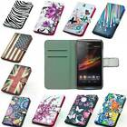 For Sony Leather Wallet case cover with card holder and stand