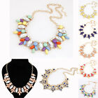 FASHION WOMEN CRYSTAL JEWELRY CHUNKY PENDANT PARTY STATEMENT BIB COLLAR NECKLACE