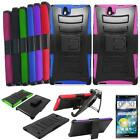 For ZTE Grand X Max+ Case Rugged Cover Stand Holster Screen Guard Z787