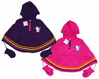 Girl's Official Charmmy Kitty Hooded Poncho Cape with Mittens 2 to 8 Years NEW