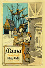 Sail Boat Ship Cafe Venice Italy Italia Food Fine Vintage Poster Repro FREE S/H