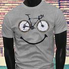 Cycling LOVE Bicycle Athletic Sports Bike Happy Race Bicycle Mens Gray T-Shirt