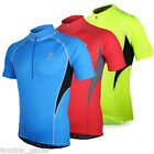 Arsuxeo Men Short Sleeve Cycling Jersey Bike Tops Cloth Zippered Breathable