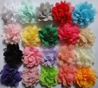 """Baby DIY Chiffon Fabric sewing corsage Hair hot Flower Appliques 3"""" 20color pick"""