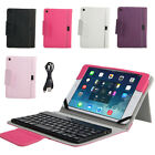 For Apple iPad mini Stand Leather Case Cover w/ Removable Bluetooth Keyboard