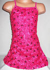 GIRLS BRIGHT PINK EMBROIDERED SEQUIN RIBBON EVENING DISCO PARTY MINI DRESS