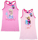 Girls Official FROZEN Anna Elsa Racer Back Cotton Summer Dress 4 - 8 Years NEW