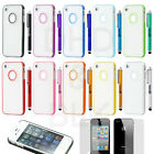TPU Rubber Gel Ultra Thin Transparent Clear Protective Case Cover for iphone 4 S
