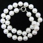 Handmade Genuine 8mm 10mm 12mm South Sea Shell Pearl Necklace 18''4 Color Pick