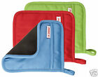 Judge Plain Oven Pot Mitt Holder Square Silicone + Cotton Red Blue Green x 1