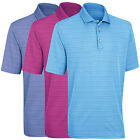 Ashworth Mens Performance Interlock Shadow Stripe Golf Polo Shirt Top