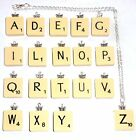 'SCRABBLE TILE' Necklace with cute BUTTERFLY Bead - You Choose the Letter