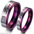 1PC Stainless Steel Ring Couple Rings Laser Engraving Wedding Engagement