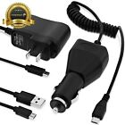 3 in 1 Universal Fast Micro USB Sync Cable + Wall Car Rapid Charger For Android