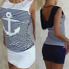 Lady Bandage Bodycon Striped Clubwear Cocktail Party Mini Shirts Dress Long Tops
