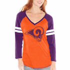 St. Louis Rams Women's Orange/Purple Alexa V-Neck Raglan Long Sleeve T-Shirt