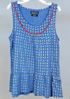 NWT Girls Lucky BrandLGM32577 Big Halow Peplum Top Medium Blue