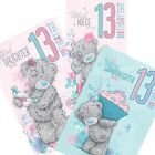 Me to You Tatty Teddy 13th Birthday Greeting Card Cards Suitable for Females