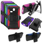 Phone Case For Straight Talk LG L16C Prepaid Lucky Rugged Cover Stand Holster