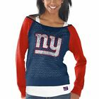 New York Giants Womens Royal Blue/Red Holey Long Sleeve T-Shirt and Tank Top
