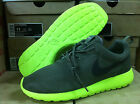 NEW NIKE ROSHERUN MEN ROSHE RUN TARP GREEN DEEP SMOKE NEON VOLT SHOES 511881-307