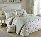 COUNTRY JOURNAL VINTAGE STYLE FLORAL BUTTERFLY DUVET COVER NATURAL CREAM