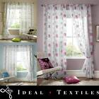Embroidered Voile Net Curtain Panel - Teal, Pink & Green Lombok