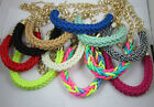 Occident stylehandmade woven cotton rope Fluorescent color necklace bracelet
