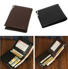 Fashion Men's Vintage Bifold PU Leather Wallet Card Holder Coin Wallet Purse W