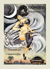 Fashion Lady Dance Theater Show 1896 Italy Italia Vintage Poster Repro FREE S/H