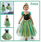 FROZEN Princess Anna Snow Girl Snowflake Cosplay Costume Party Formal Dress