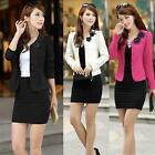 Womens Double-breasted Jacket Tops Long Sleeve Slim Coat Casual Jacket Tops 3XL